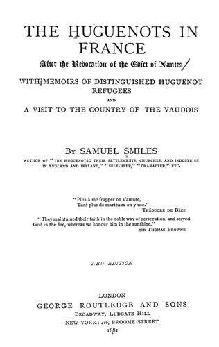 Download The Huguenots in France after the revocation of the Edict of Nantes