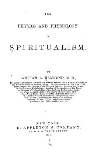 The physics and physiology of spiritualism