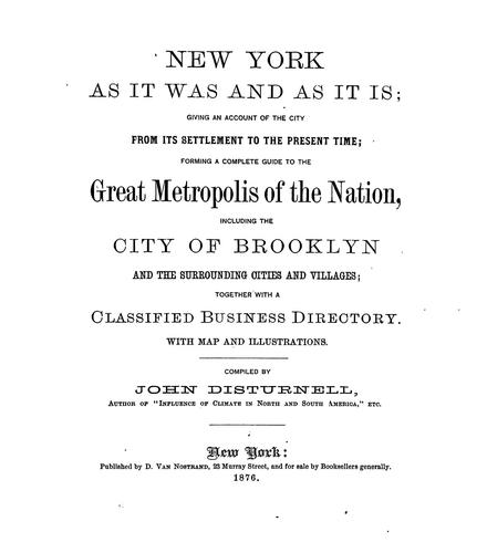 Download New York as it was and as it is