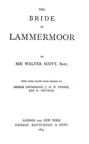 Download The bride of Lammermoor