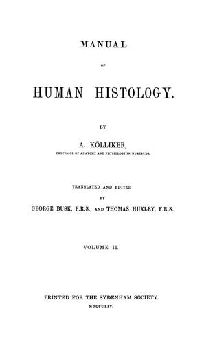 Download Manual of human histology