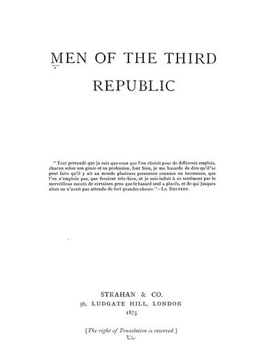 Download Men of the Third Republic
