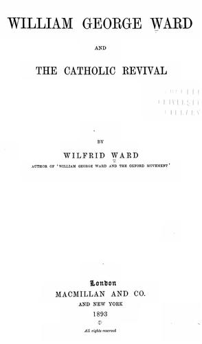 Download William George Ward and the Catholic revival