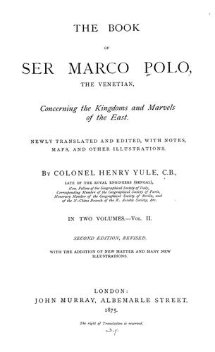 Download The book of Ser Marco Polo, the Venetian-Vol. 2