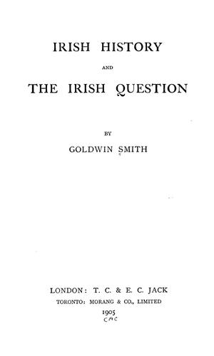 Download Irish history and the Irish question