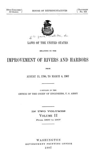 Laws of the United States relating to the improvement of rivers and harbors