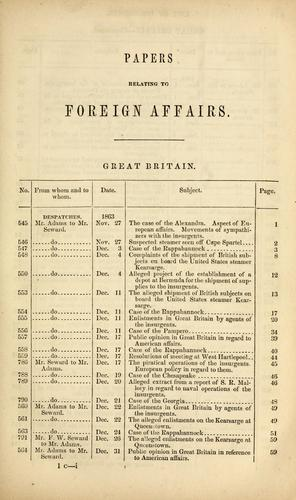 Download Papers relating to foreign affairs