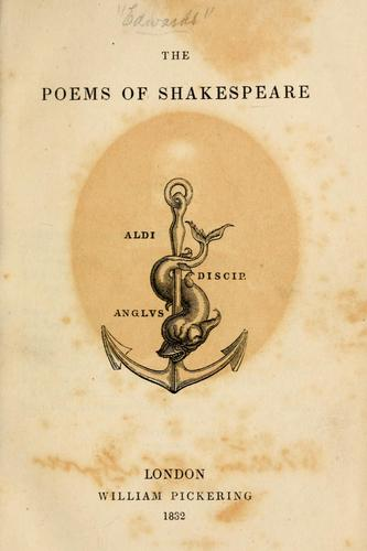 The poems of Shakespeare.