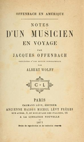 Download Offenbach en Amérique