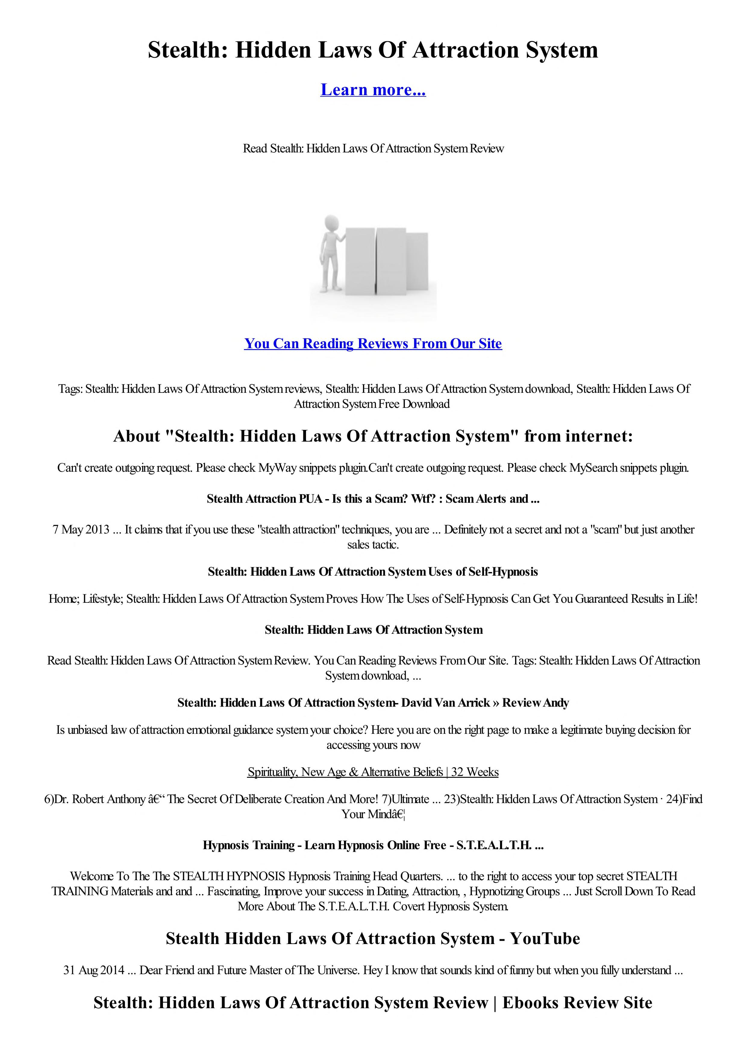Stealth Hidden Laws Of Attraction System Free Download Borrow And Streaming Internet Archive