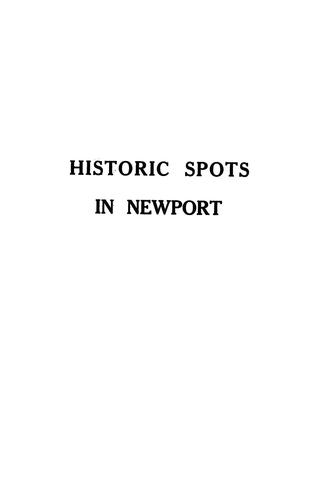 Historic spots in Newport by Edith May Tilley