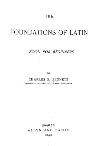 The foundations of Latin by