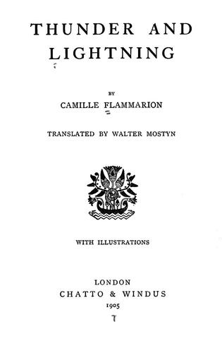 Thunder and lighting by Camille Flammarion
