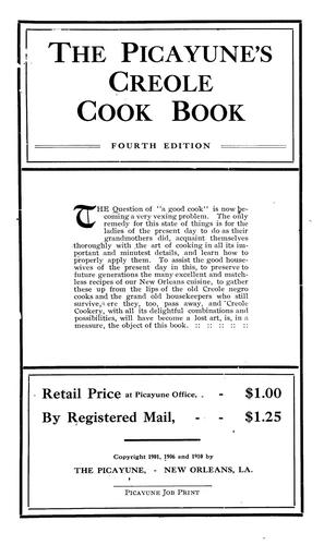 The Picayune's Creole cook book by