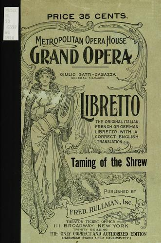 The taming of the shrew by Hermann Goetz